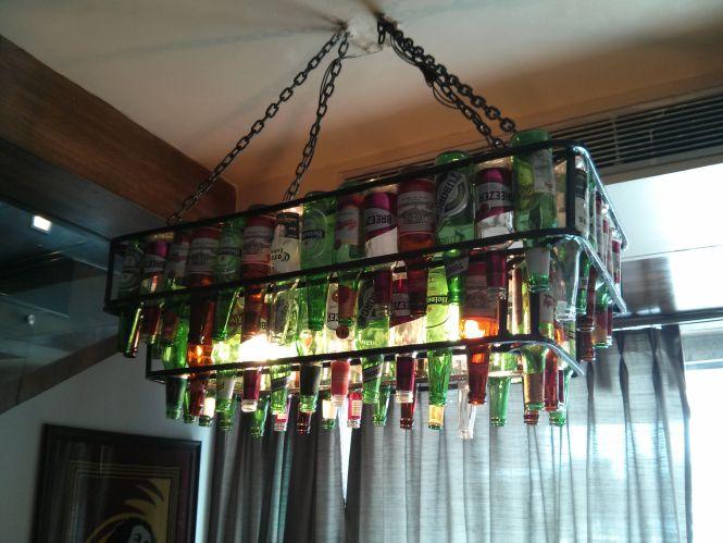 Beer Bottle Chandelier Xiian Delhi