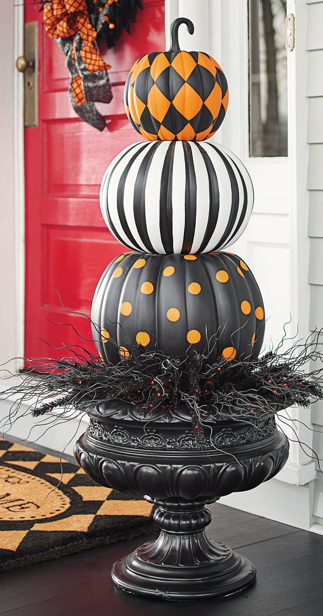 Put a designer spin on decorating with gourds. Our