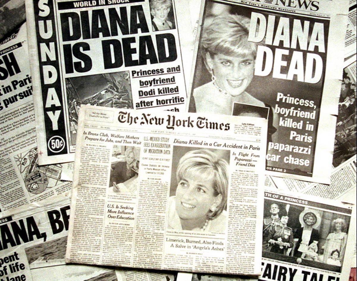 Princess Diana's death makes headlines Photos Princess