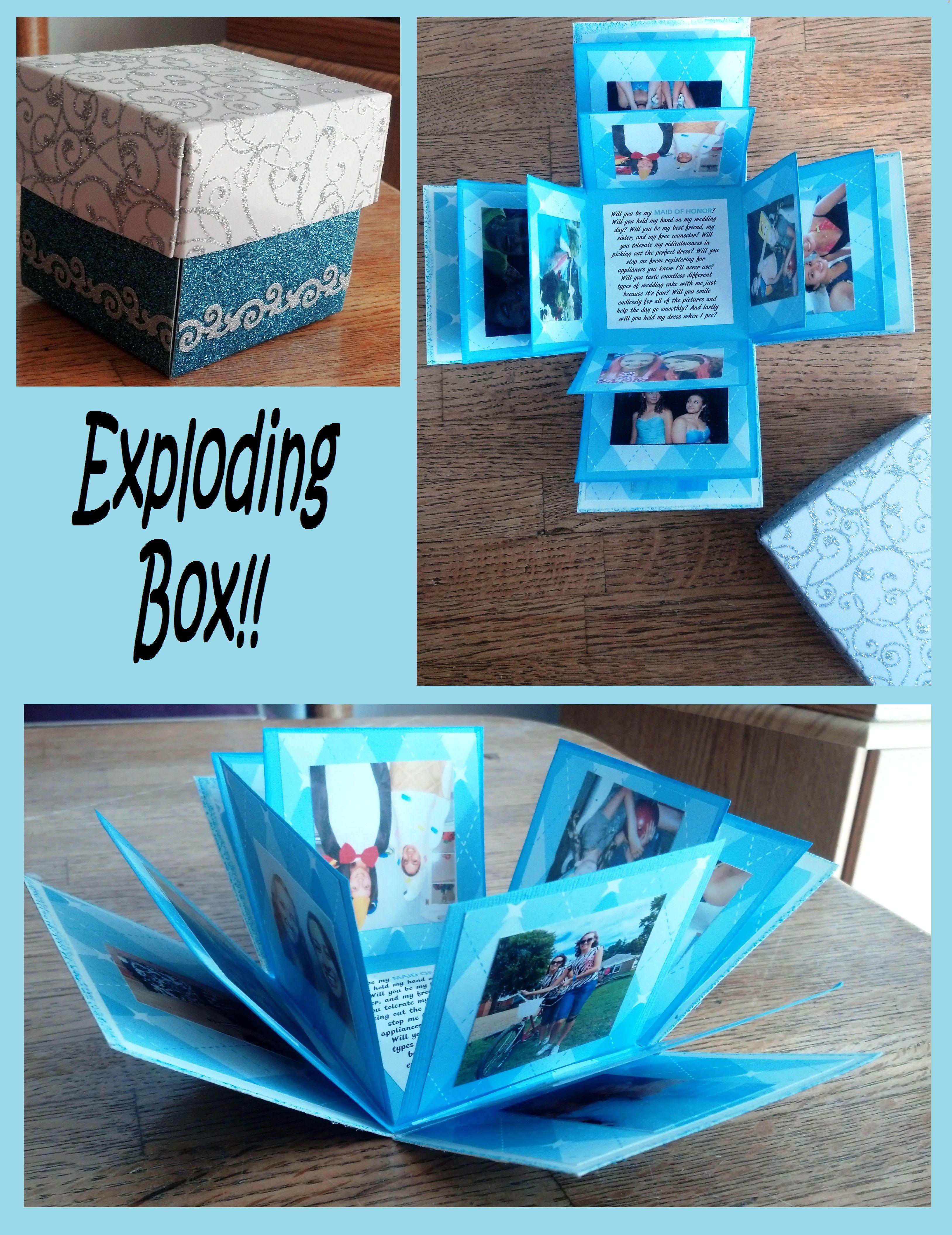 Lovely exploding photo box ♥ Made