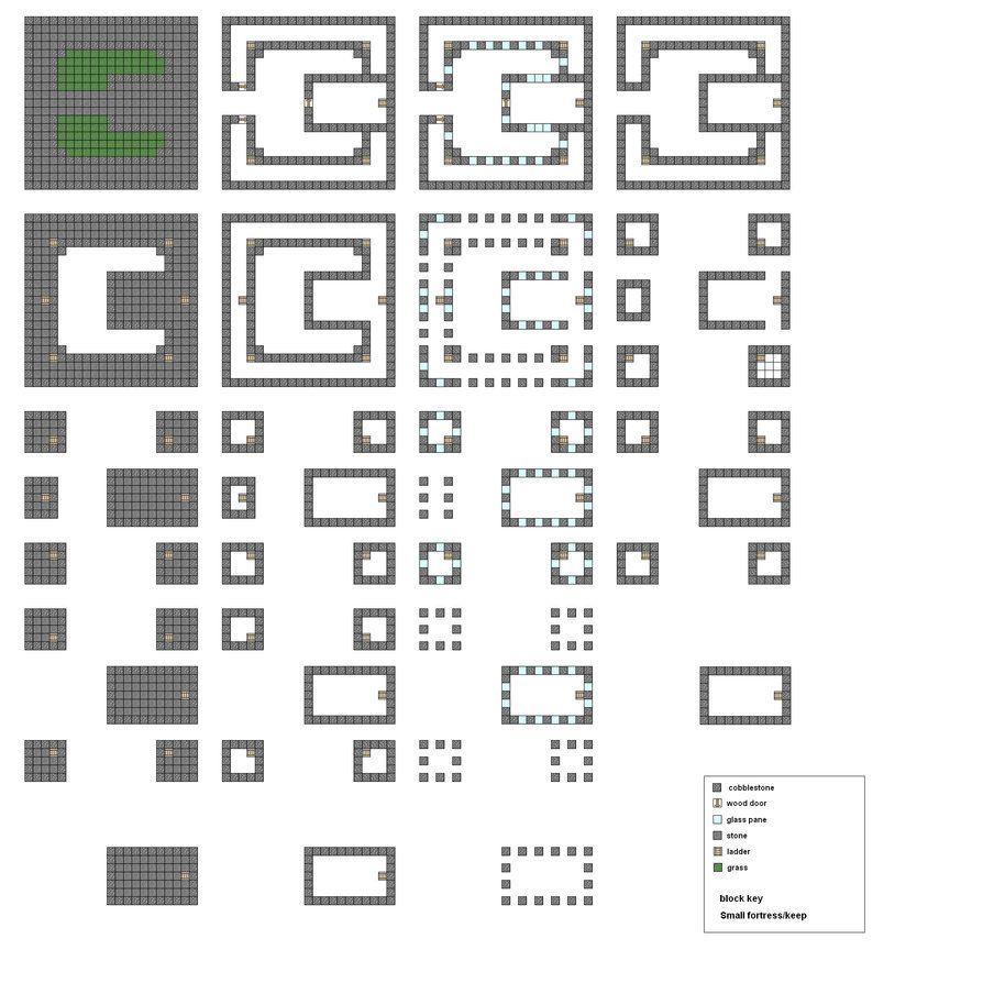 Minecraft Castle Blueprints Layer By Layer Minecraft