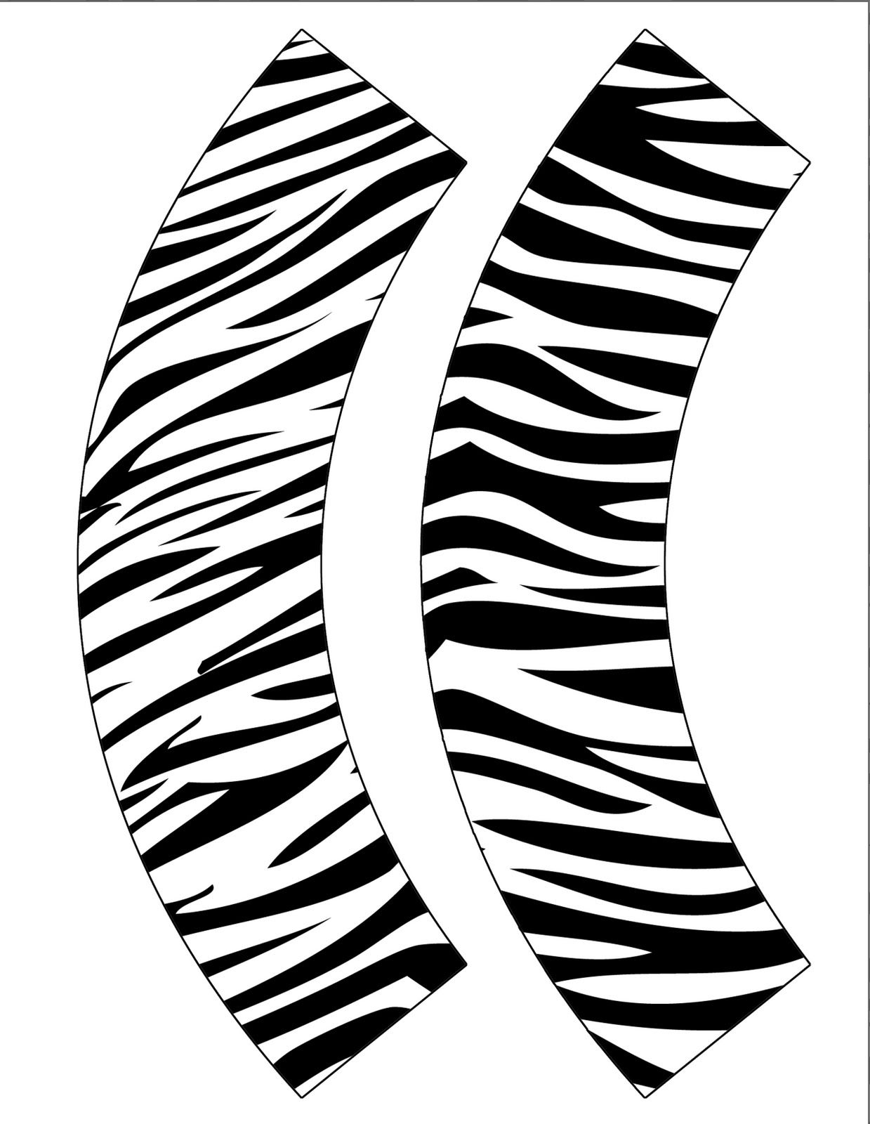 Free Zebra Print Cupcake Wrappers Just Print And Cut Out