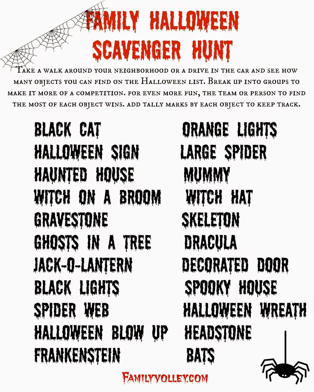 Free Printable Halloween Game