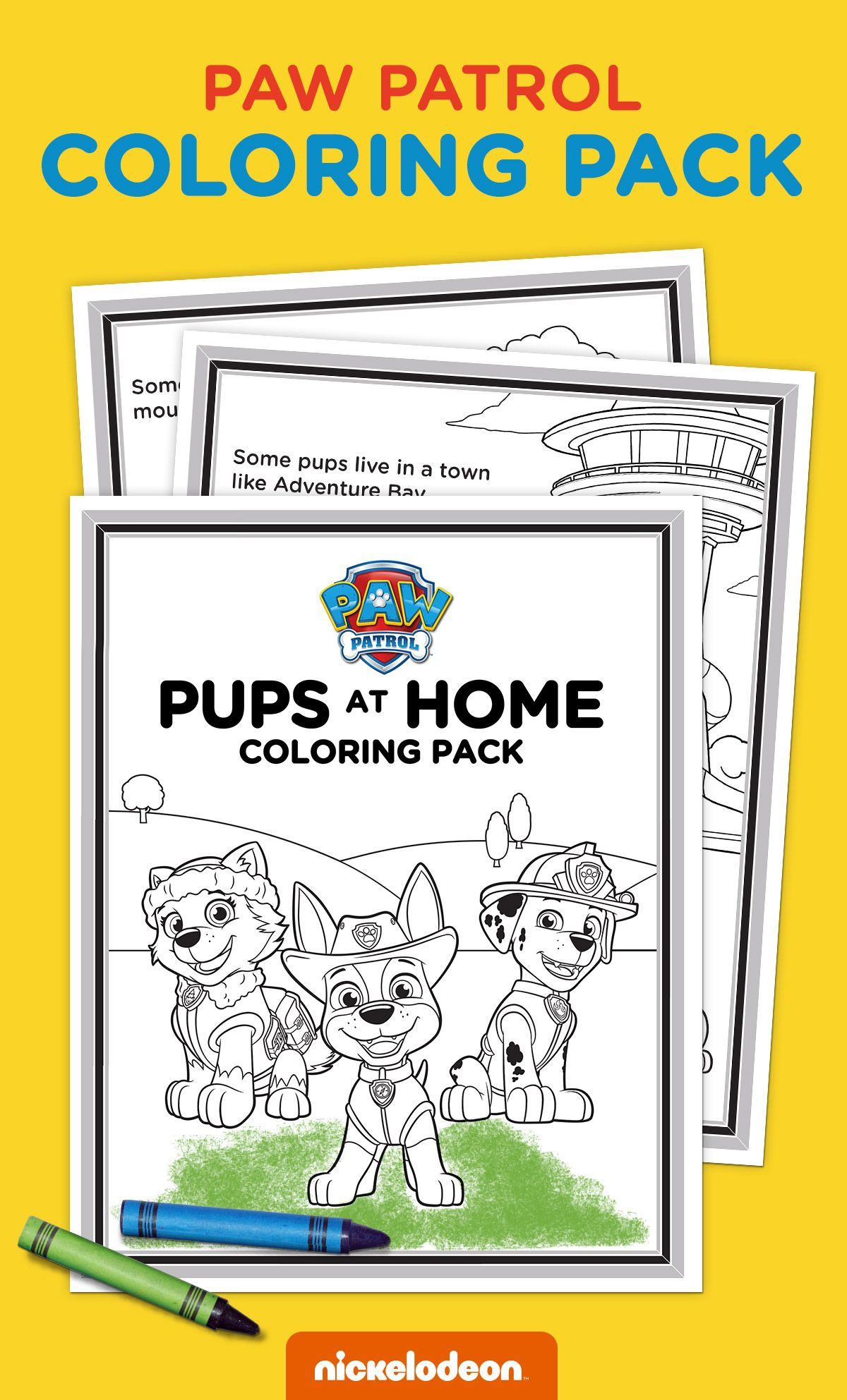 Exclusive Pups At Home Coloring Pack