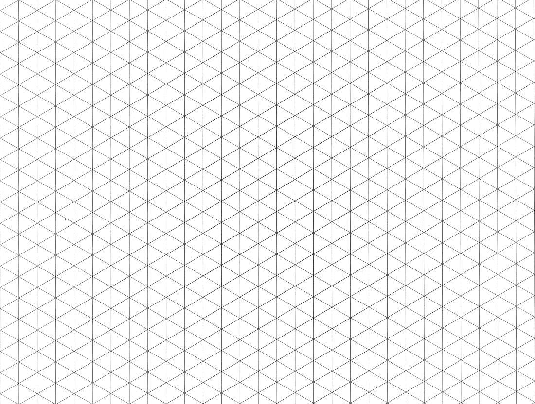 Isometric grid paper drawings dibujo tridimensional