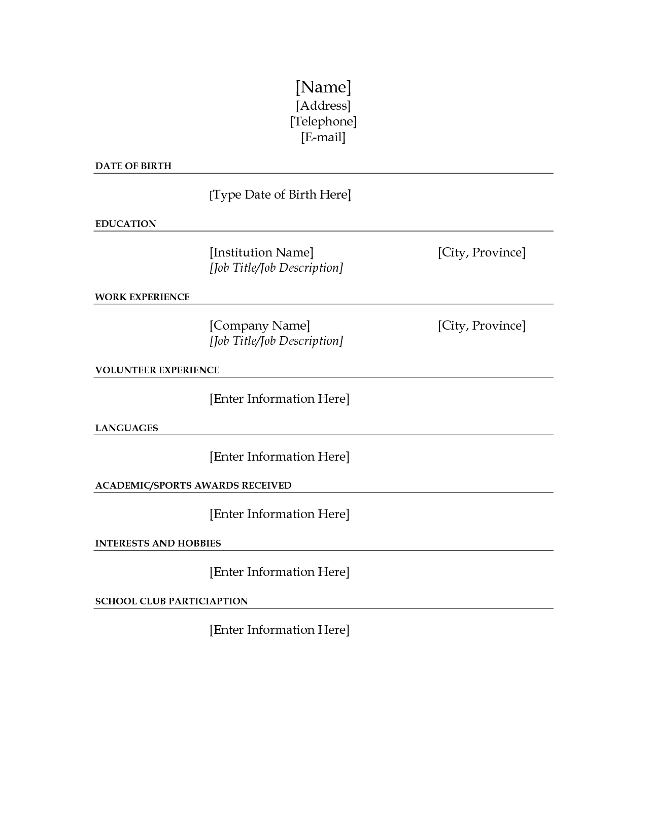 fill fill blank resume volumetrics co