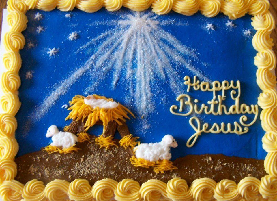 Christmas cake. Happy birthday Jesus Cakes Christmas