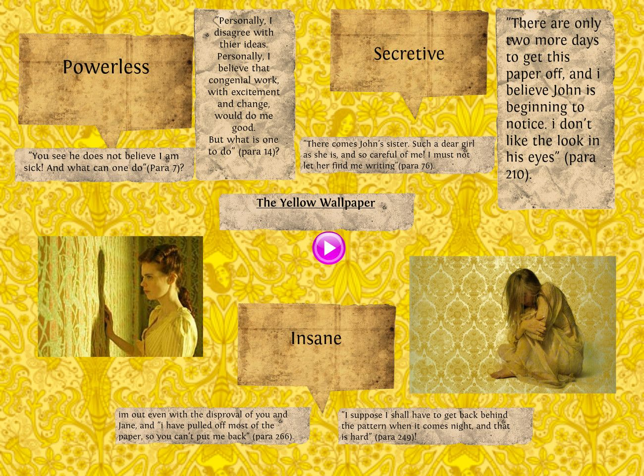 yellow wallpaper essay the yellow short story analysis best games     the yellow short story analysis best games yellow essay essays and  criticism on charlotte perkins gilman