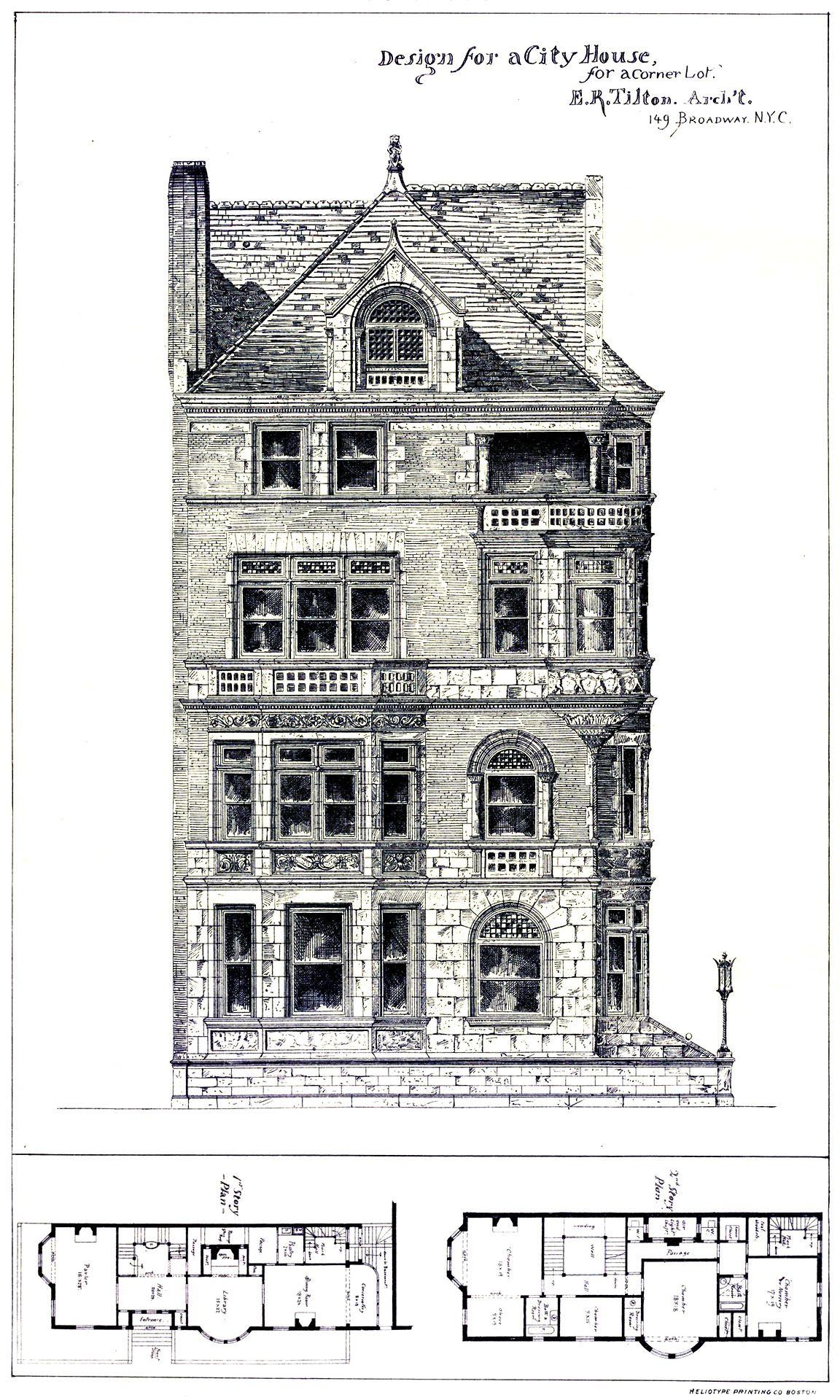 Design for an urban residence on a corner lot (http//www