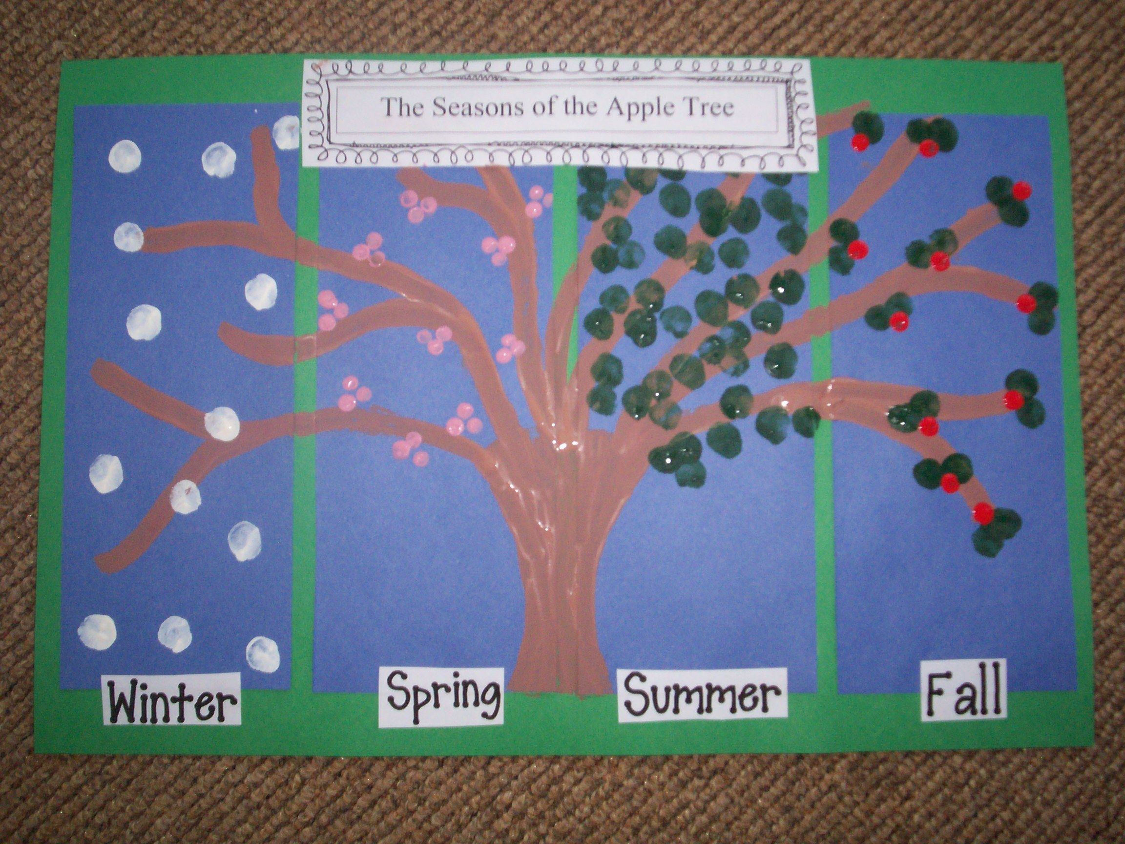 Grade 1 Cluster 4 Daily And Seasonal Changes Seasons Of The Apple Tree Art Project