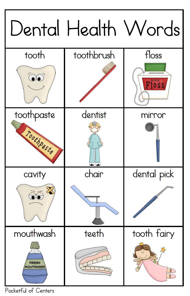 Dental Health Writing Center Dental health, Writing