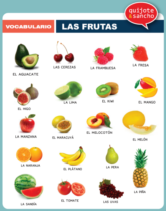 Frutas. Descarga