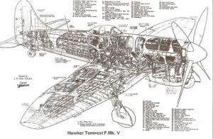 Hawker Tempest  diagram | Vintage RAF | Pinterest