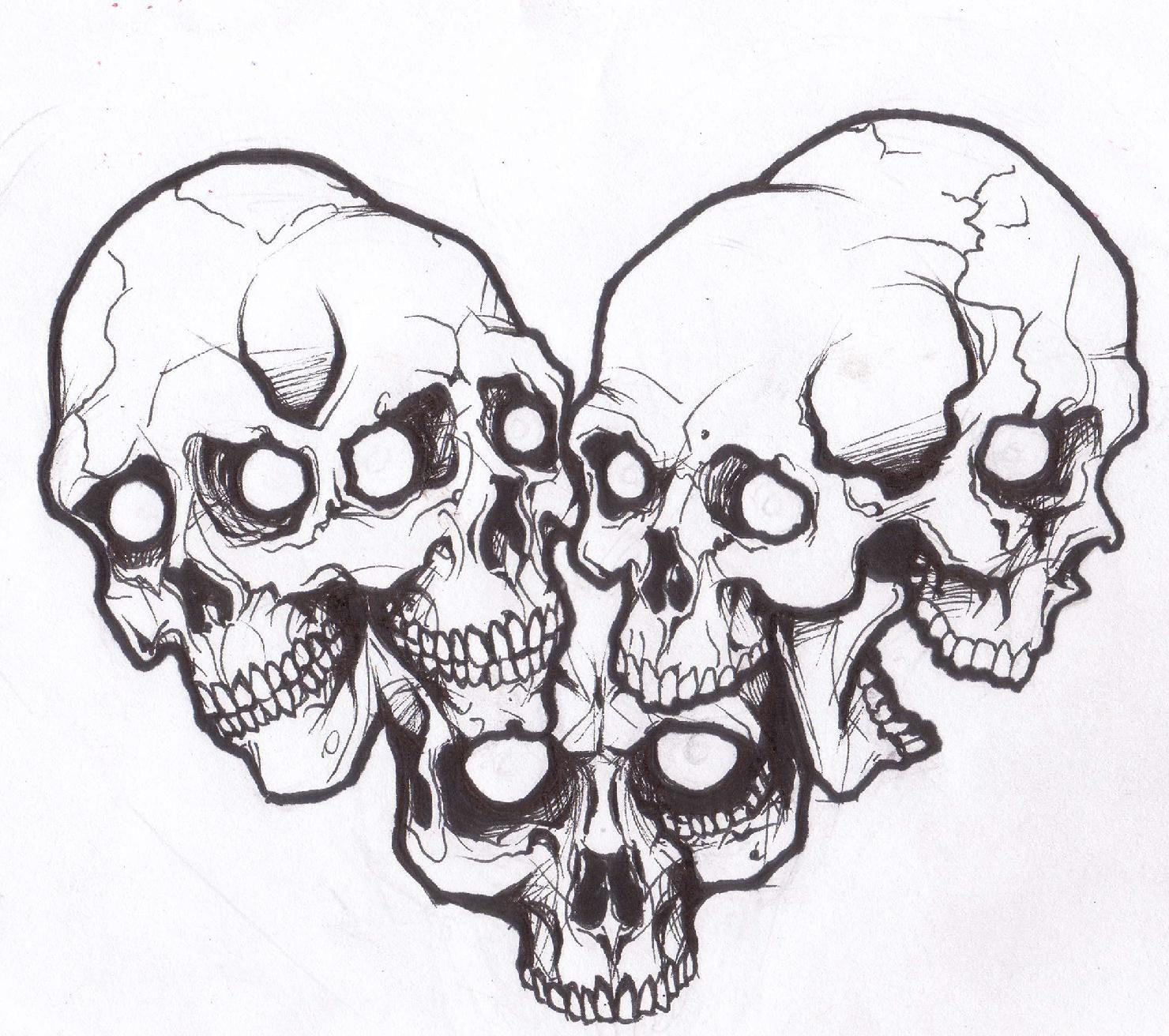 Image detail for Skull Love Tattoo Design by Demonology