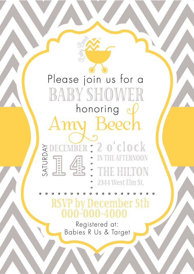 free chevron pattern baby shower invitations, Baby shower invitations