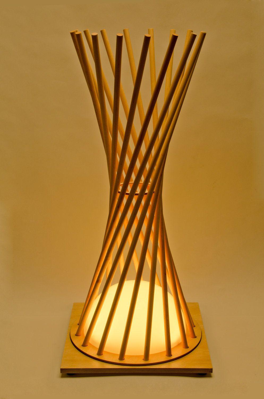Hyperbola Lighting wooden lamp Hearth Pinterest