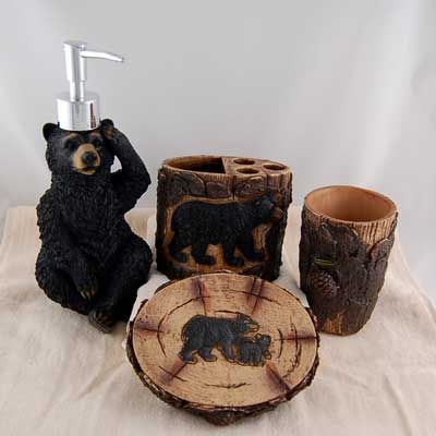 black bear bathroom accessories | cabins and cabin ideas