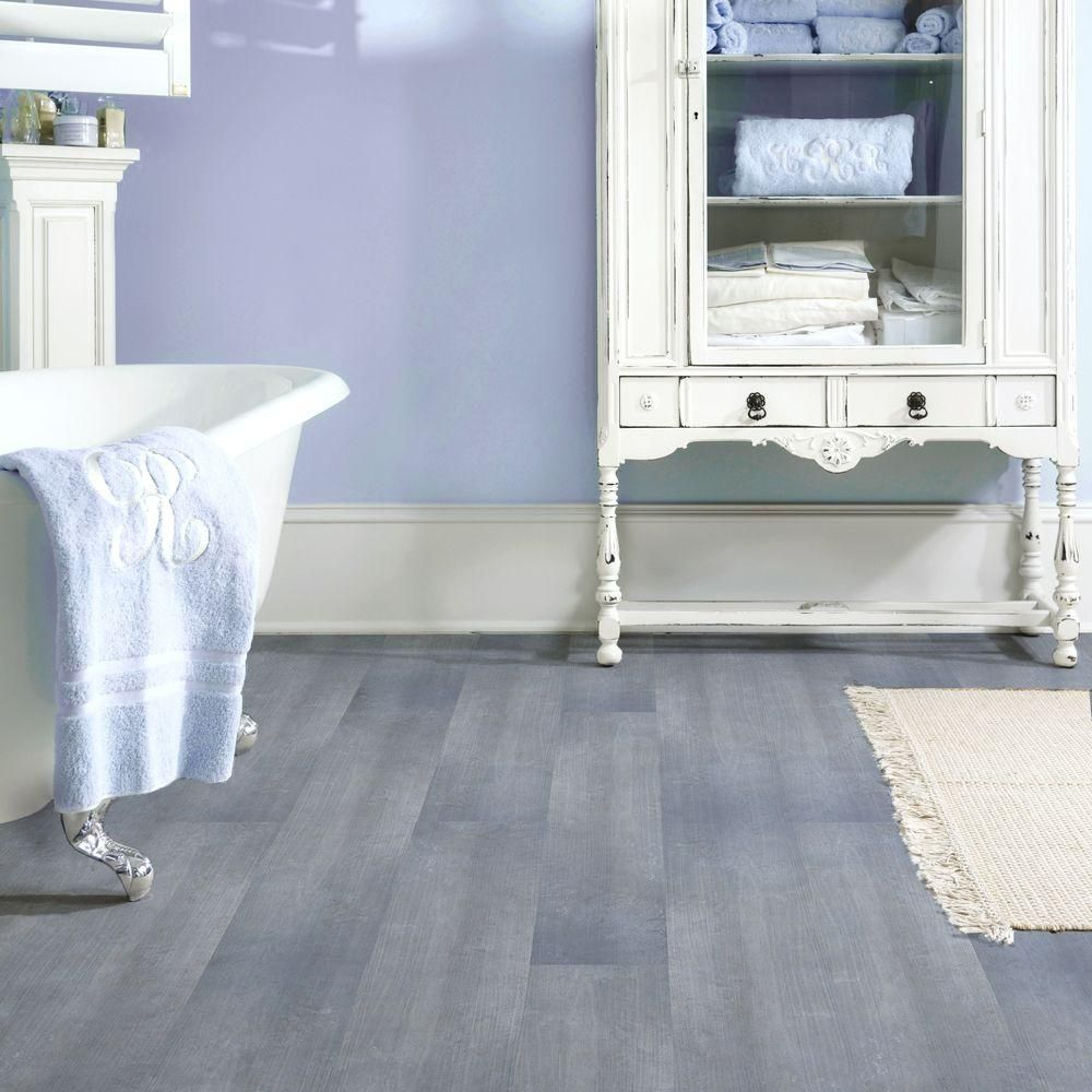 TrafficMASTER Allure 6 in. x 36 in. Blue Slate Resilient