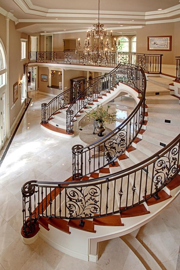 Inside Mansion Beautiful Staircase StartingYourOwnnet