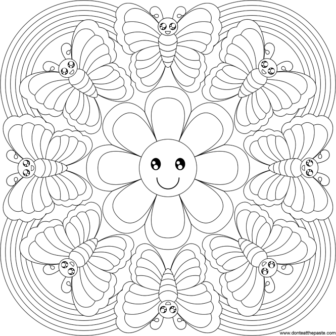 Free Printable Flower Mandala Coloring Pages | Coloring Page for kids