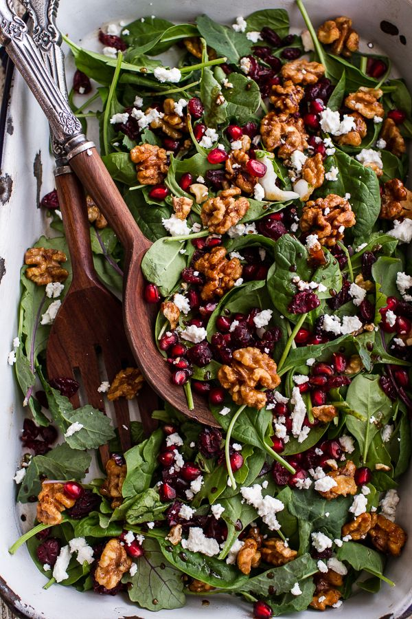 This Christmas Dinner, Go BIG Candied walnuts, Salad and