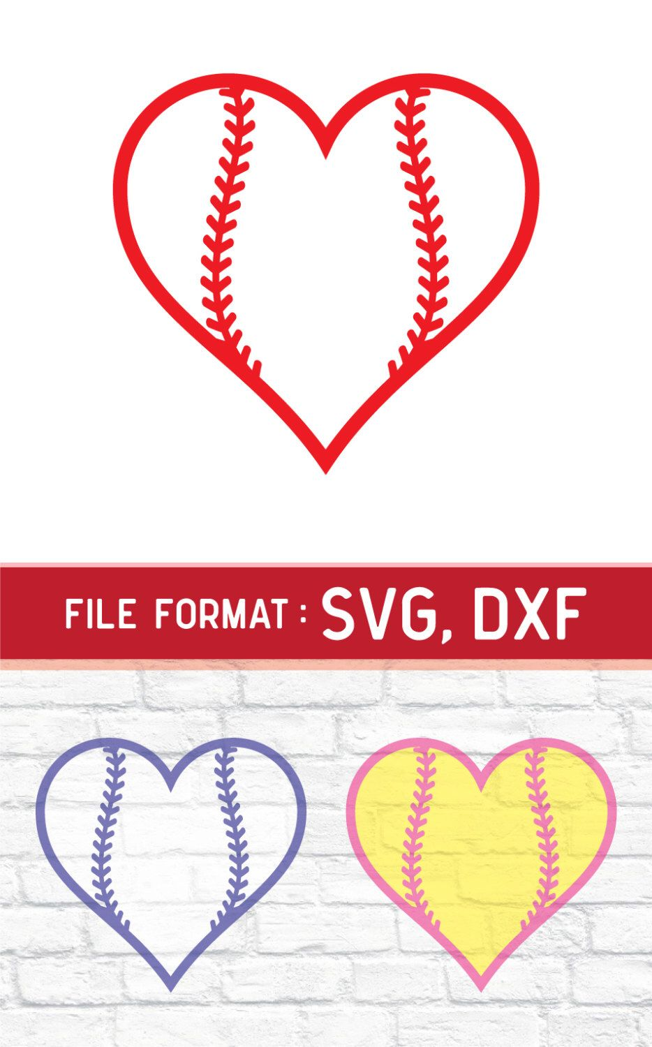 Love Baseball SVG Cut Files, Vinyl Cutters, Monogram