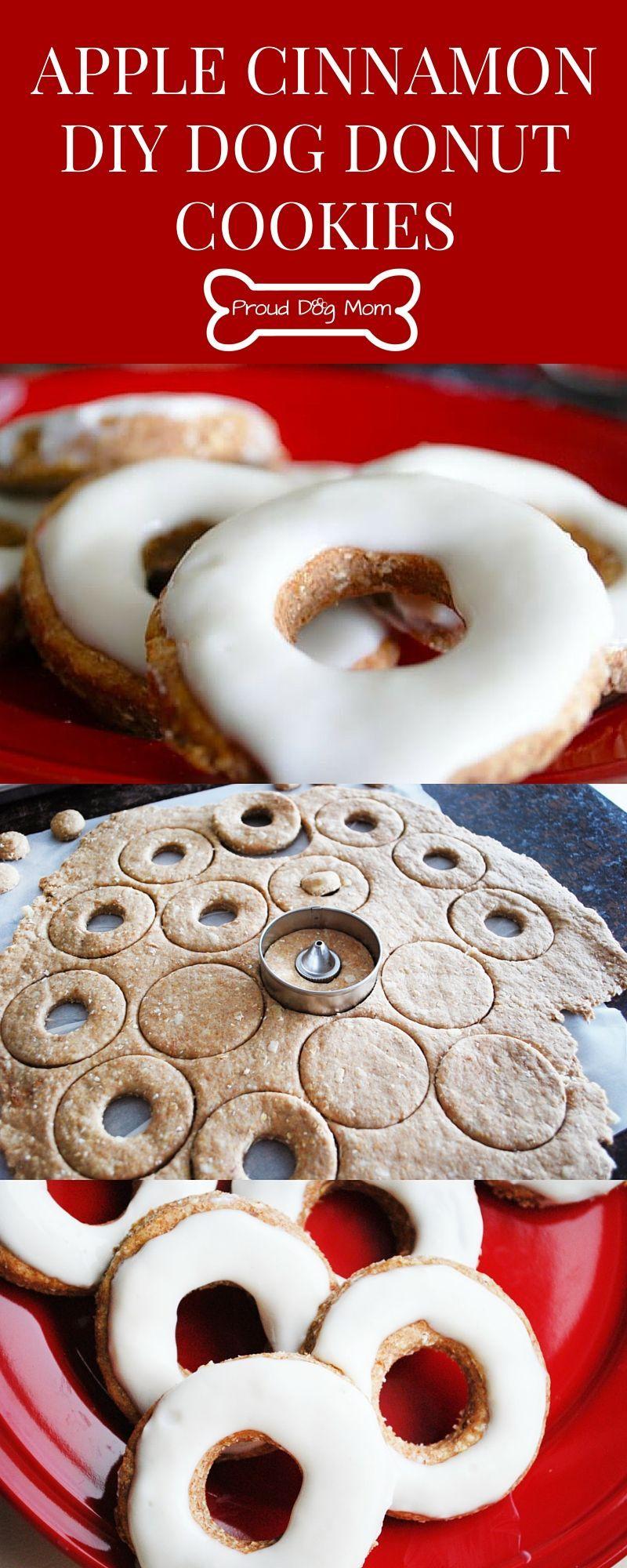 Apple Cinnamon DIY Dog Donut Cookies Recipe Homemade