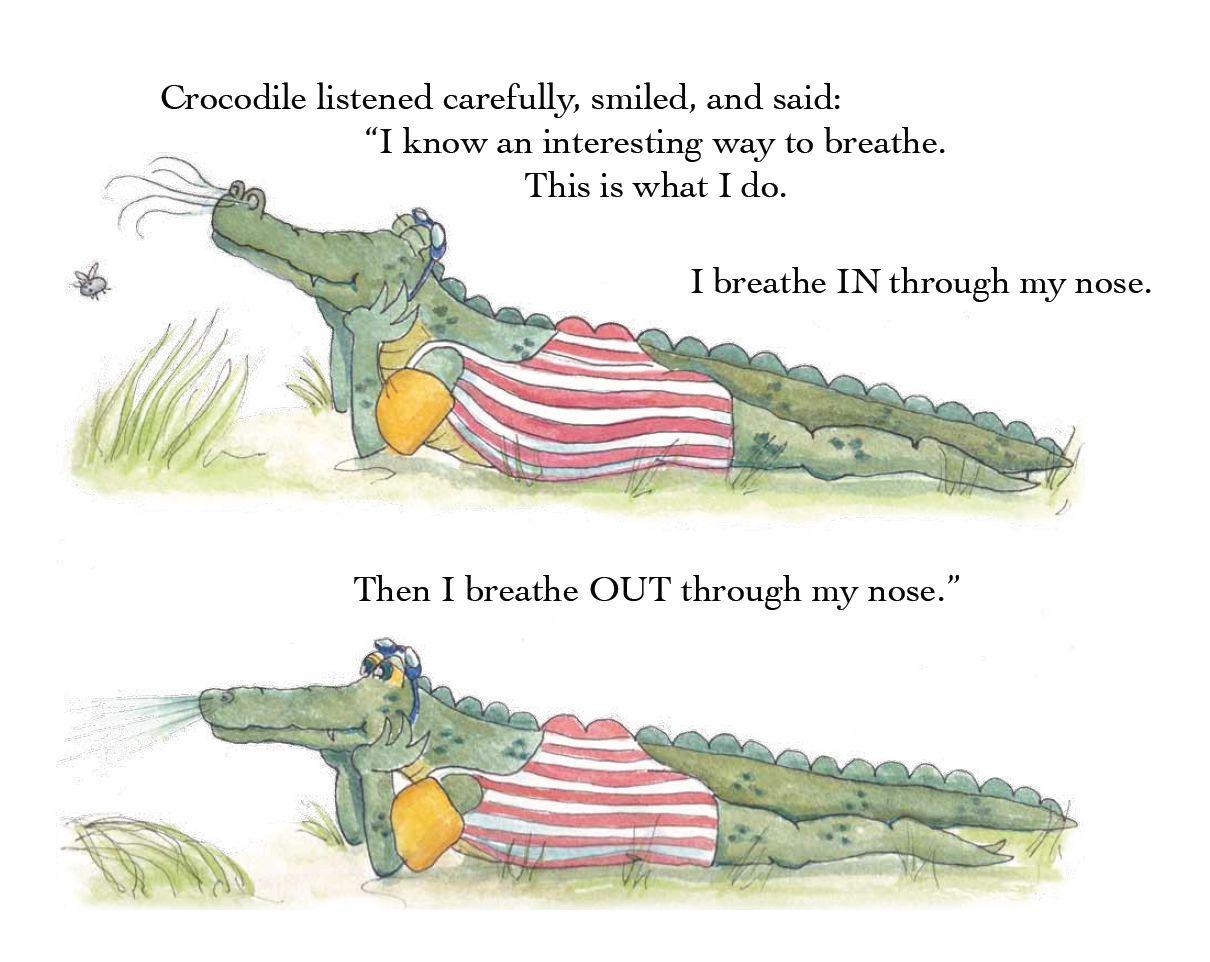 A beautiful illustration from 'Frog's Breathtaking Speech