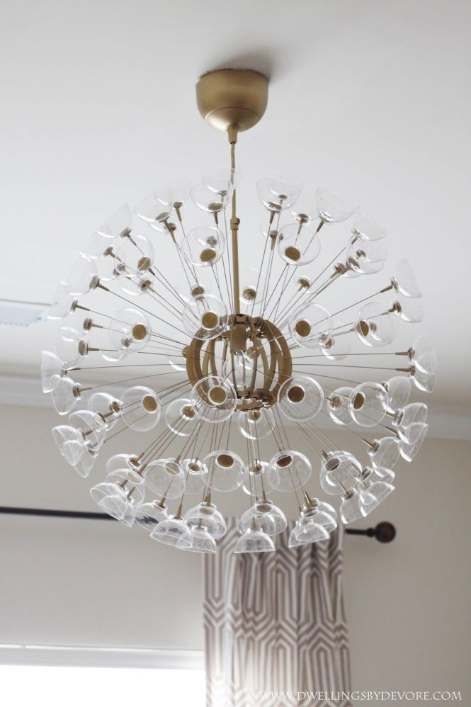 The Other Day I Mentioned That Was Working On A Little Makeover For This Ikea Maskros Pendant Lamp Loved Sputnik Chandeliers
