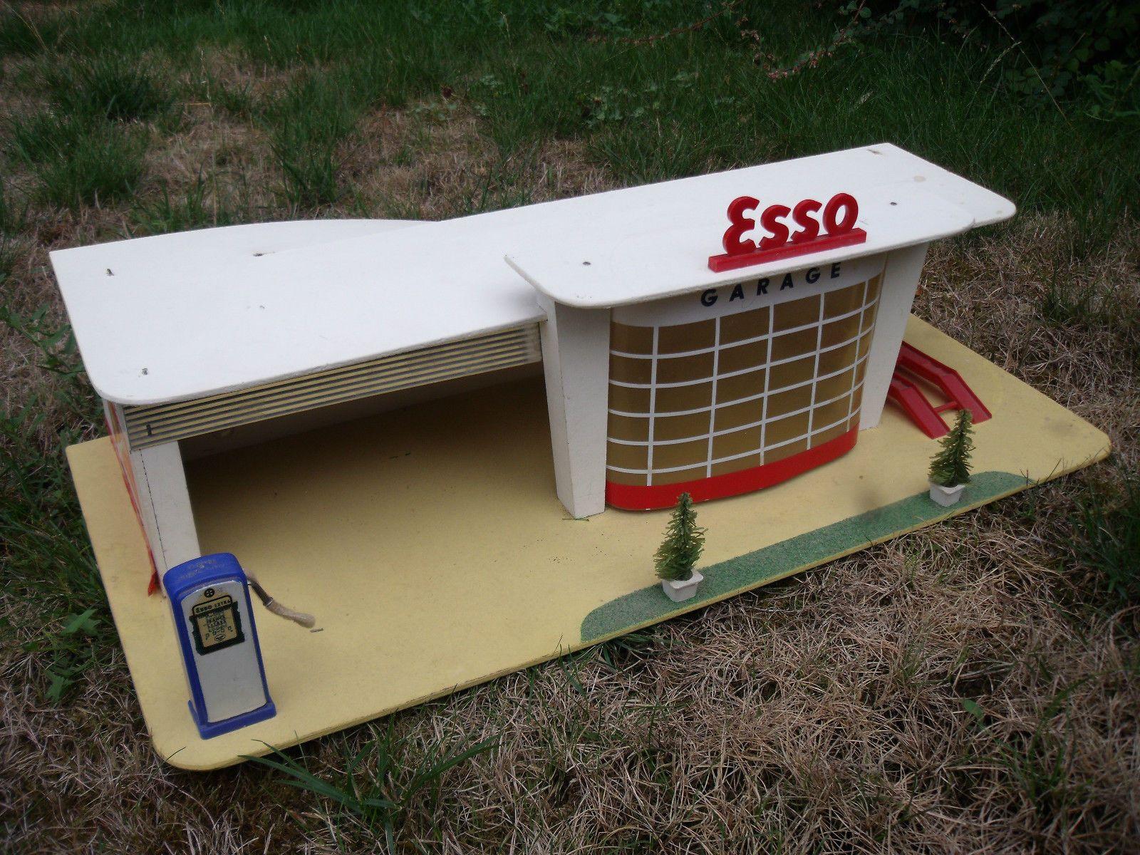 Rarissime Garage Station Esso Depreux 1960 1 43 Etat