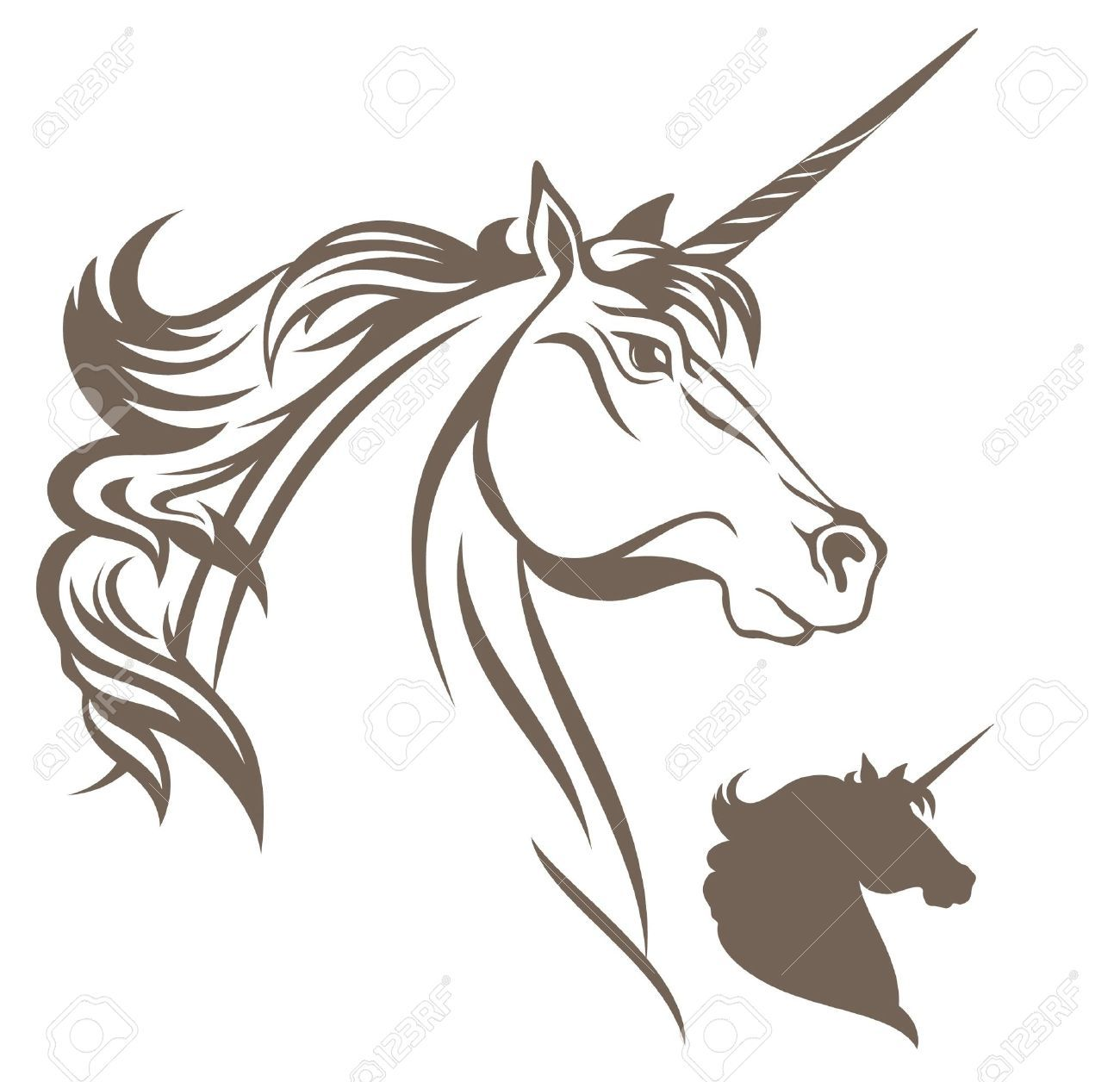 Unicorn Vector Illustration Royalty Free Cliparts, Vectors