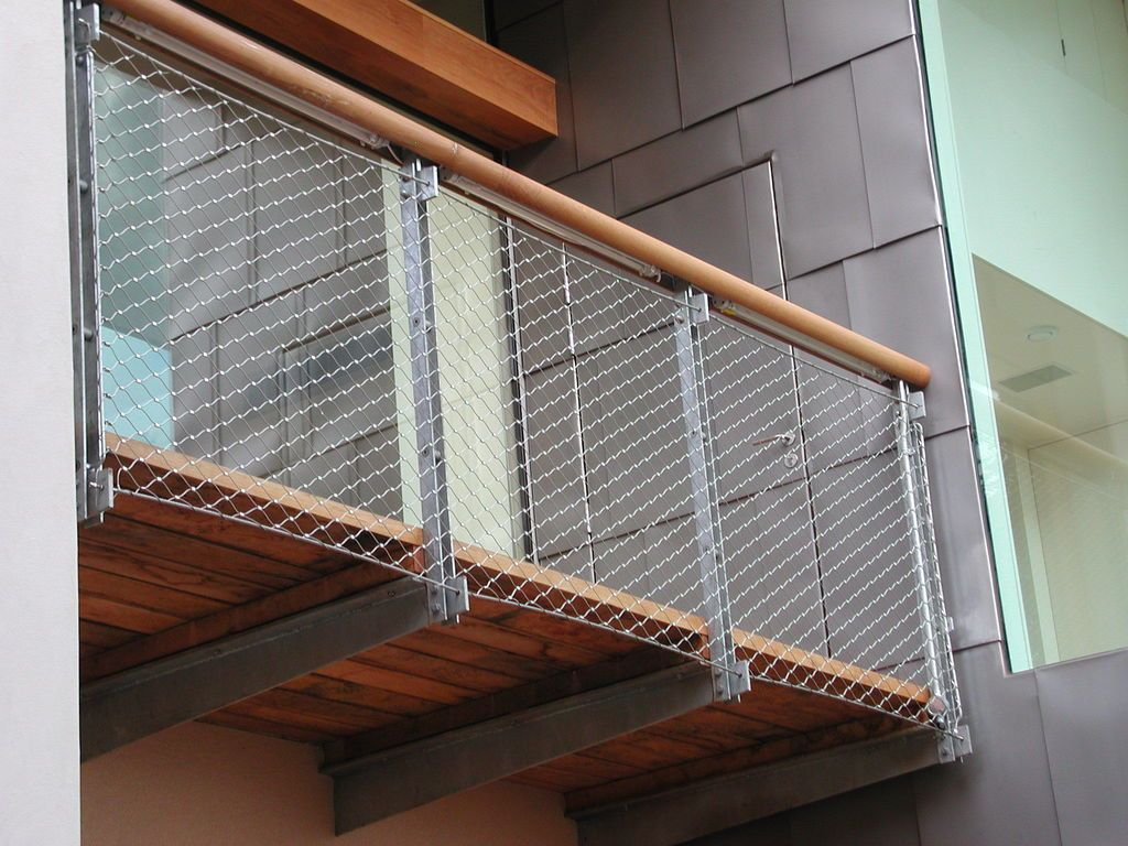 stainless steel wire mesh balustrade infill MMA
