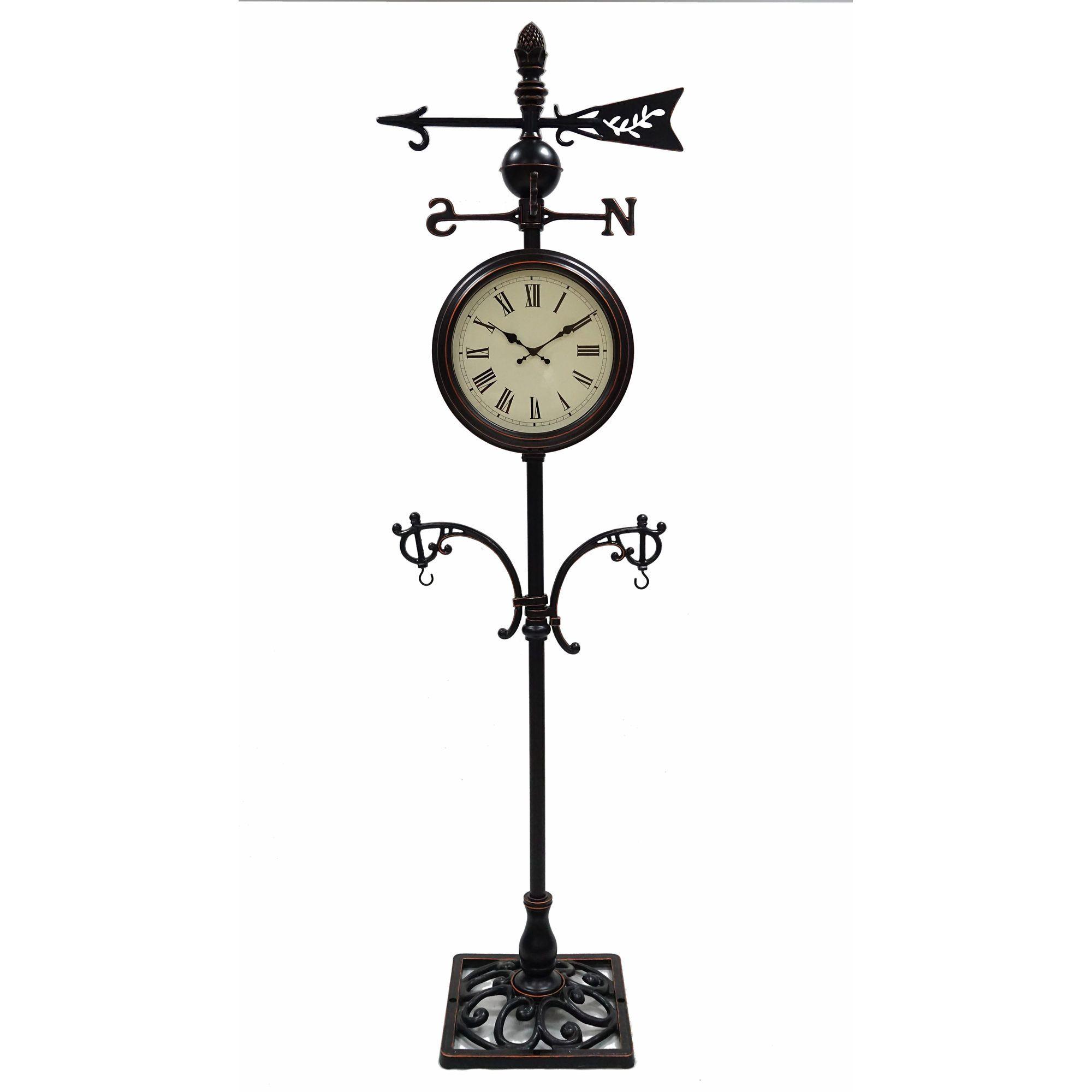 Berkley Jensen Metal Standing Clock