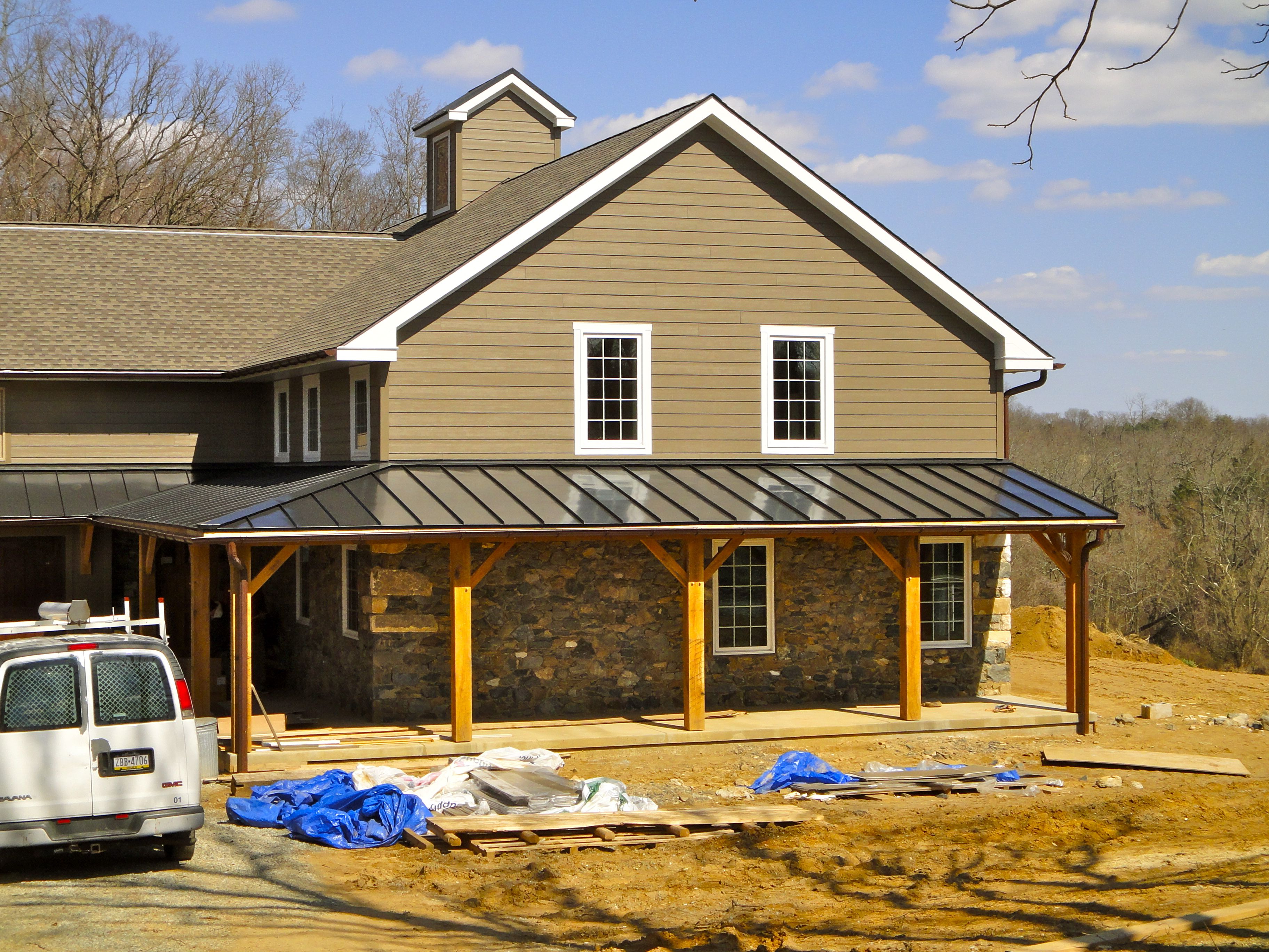 metal roof is shiny? houses with hardie board siding and