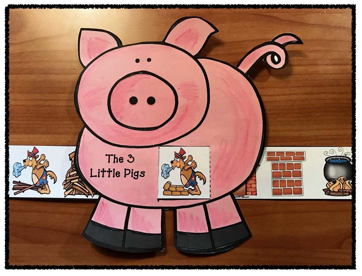 Reading Sequence Amp Retell The Story The 3 Little Pigs With This Cute Fairy Tale Slider