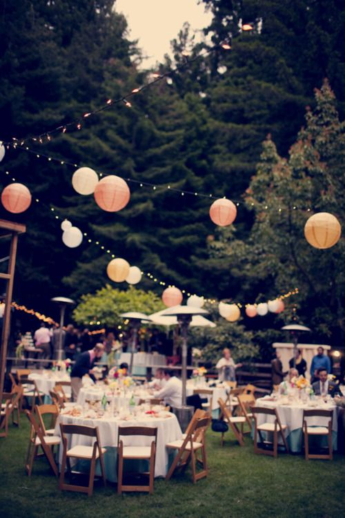 Love The Paper Lantern On String Lights Idea For Reception Decor Simplicity Workouts