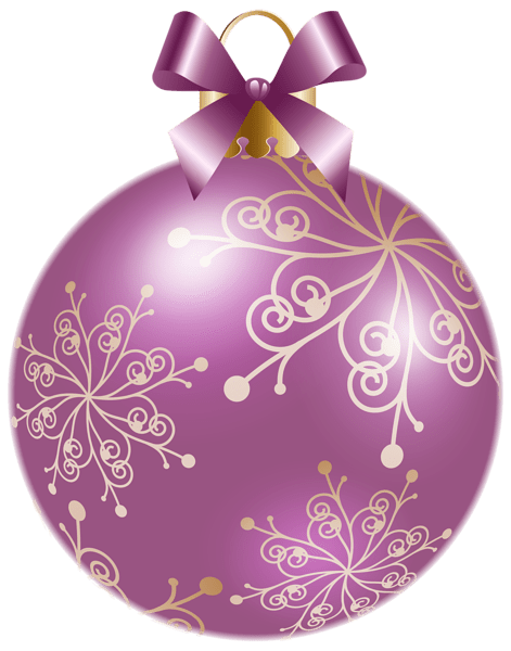 Christmas Soft Violet Ball PNG Clipart Image New Year