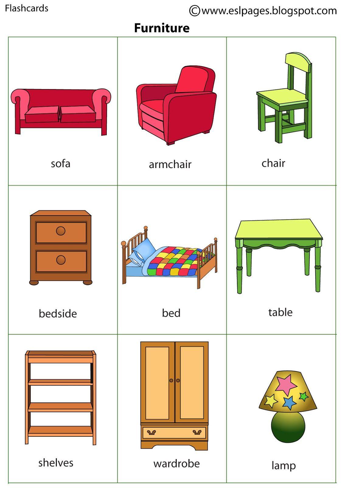 Resultat De Recherche D Images Pour Furniture Flashcards