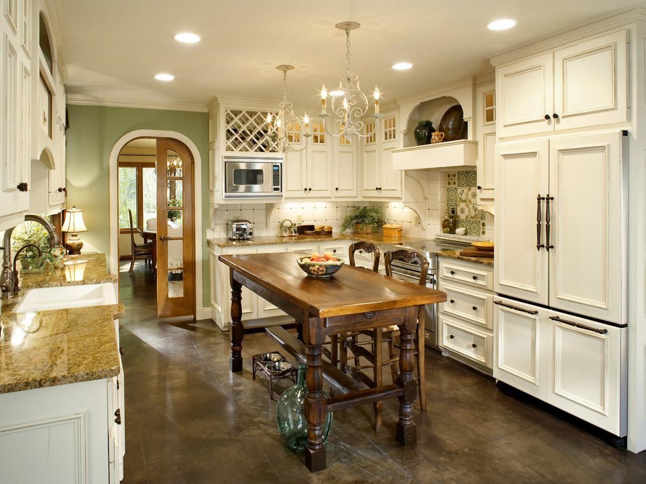 Kitchen Room White French Country Kitchen White