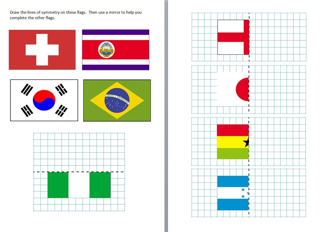 Differentiated Symmetry Worksheets Featuring Some Of The