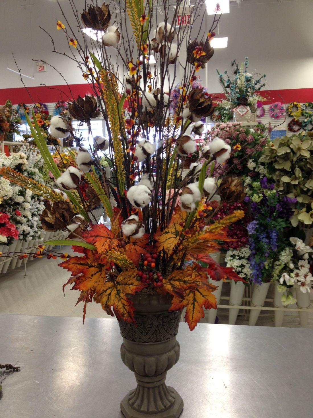 Cotton bolls arrangement my florals michaels store