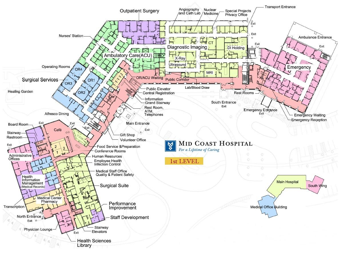 Mid Coast Hospital Floor Plans Level 1 achitecture