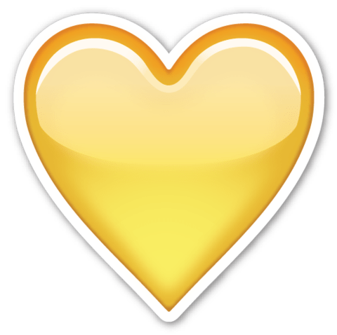 Yellow Heart Emoji stickers, Emojis and Clip art