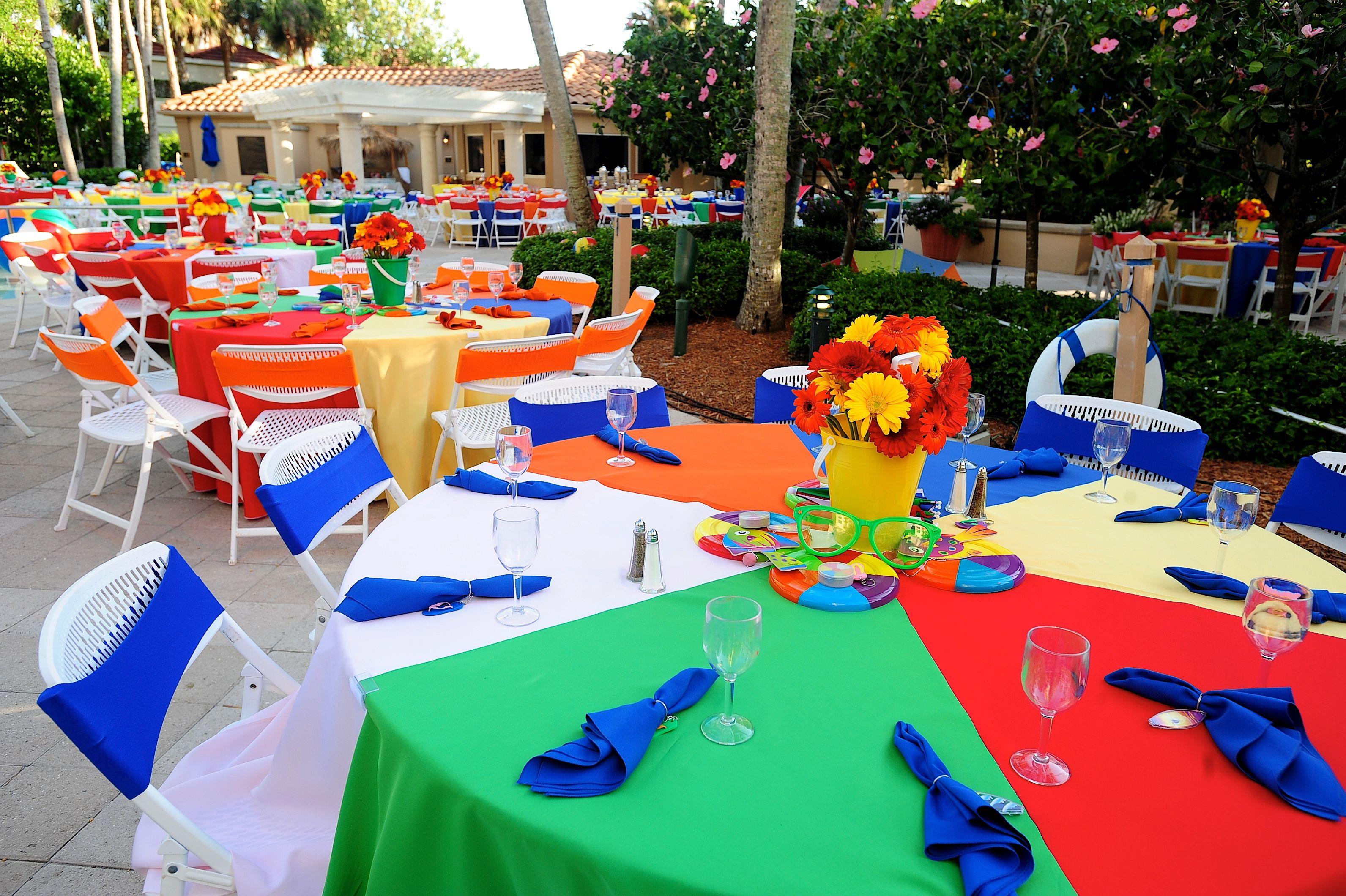 Love The Beach Ball Tableclothes