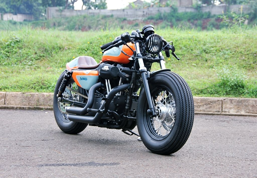 Custom Harley Davidson 1200 Cafe Racer Caferacer Pabburi Sportster 48