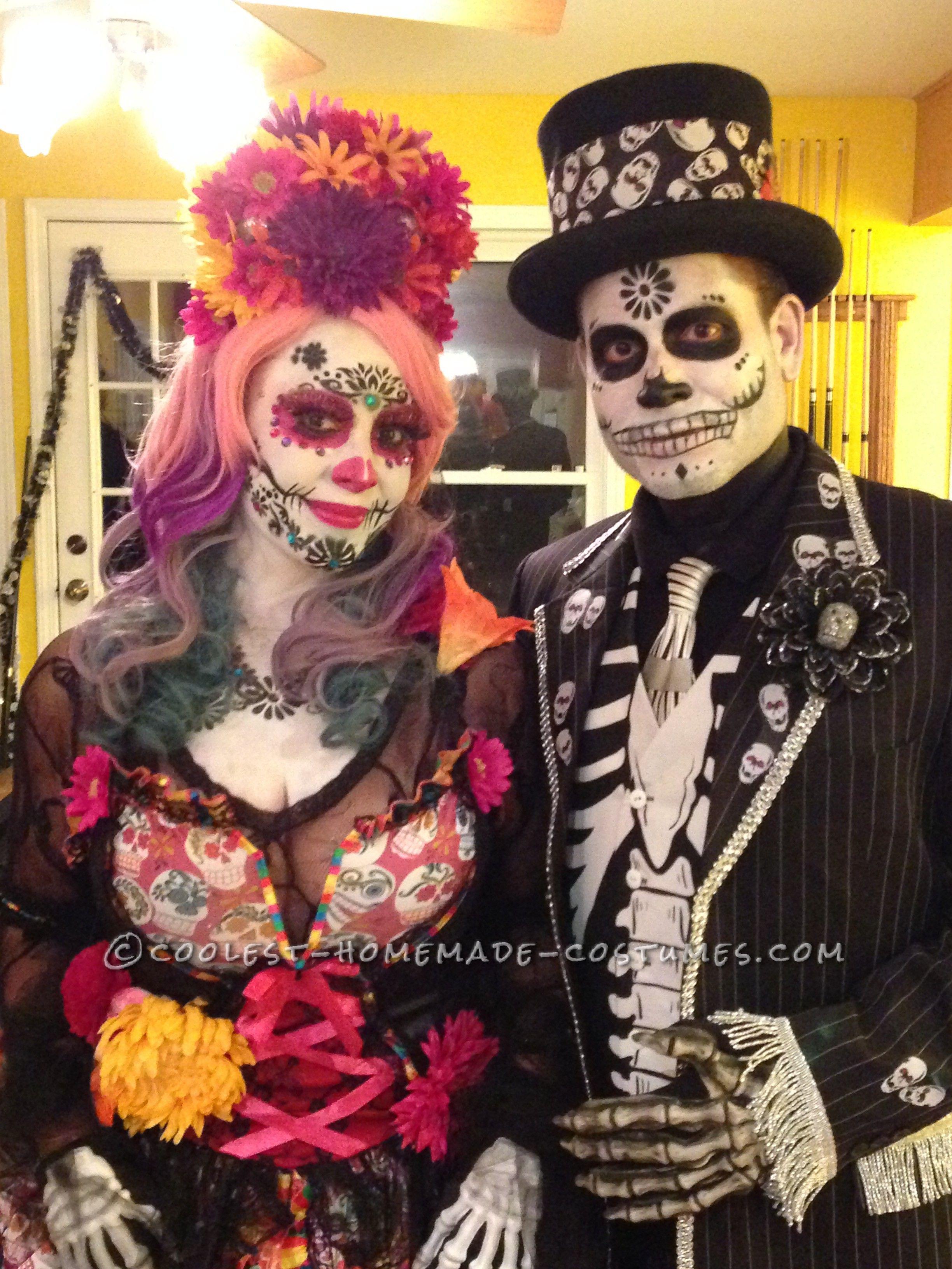 Amazing Day of the Dead Couple Costume Halloween costume