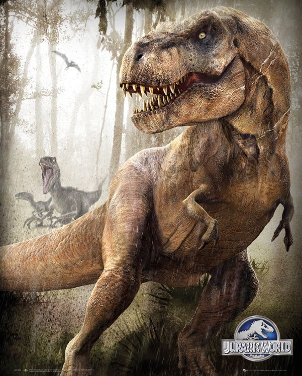 Jurassic World TRex and Indominus Rex Posters Park