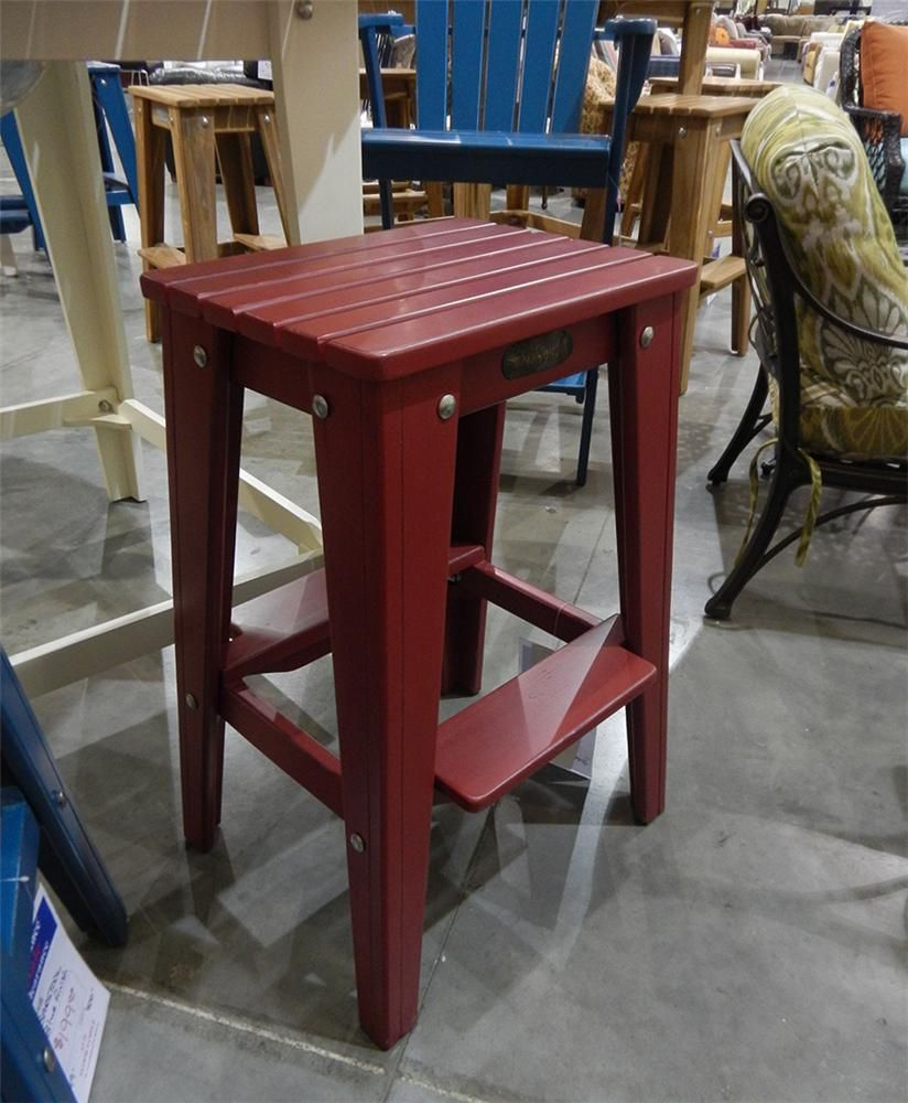 Fishtales Outdoor Red Barstool Belfort Furniture Outdoor Bar Stools Washington Dc Northern Virginia