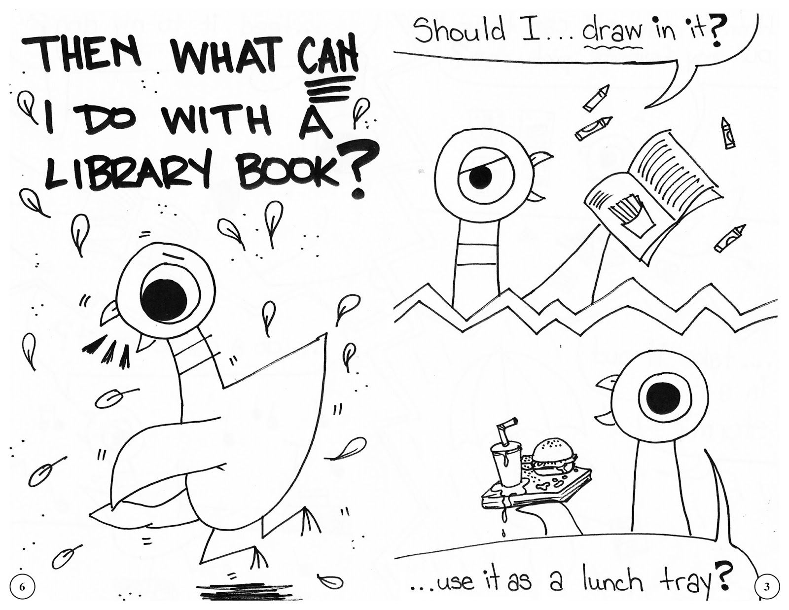 Library Book Care Pages Coloring Pages