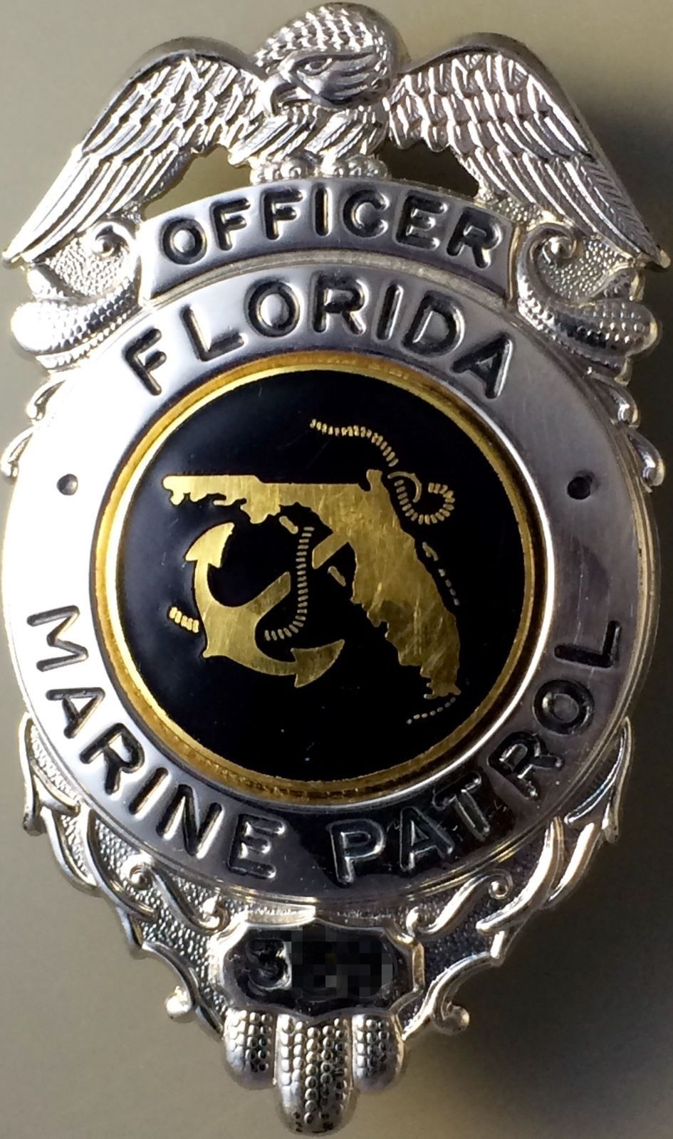 Officer, Florida Marine Patrol (Blackinton) Placas e